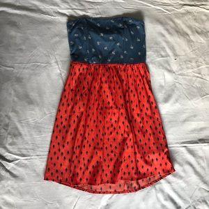 Roxy Strapless Summer Dress Sz. M